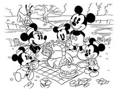Disney antiga para colorir
