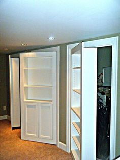Clever Hidden Storage Built Ins Maybe Use As First Closet In Hallway? Or  Our Big Closets In Bedroom? Or Closet In Hobby Room?