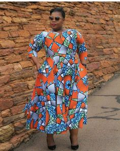 Call, SMS or WhatsApp if you want this style, needs a skilled tailor to hire or you want to expand more on your fashion business. African Maxi Dresses, African Dresses For Women, Ankara Dress, African Wear, African Outfits, African Women, African Print Fashion, Africa Fashion, Curvy Outfits