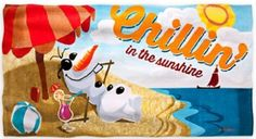 Frozen Disney Beach towel, Olaf beach towel I LIKE WARM HUGS #Frozen, #Disney, #Olaf FROZEN BEACH TOWELS ELSA, ANNA AND OLAF #DISNEY #FROZEN