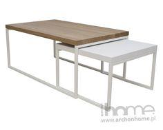 Stolik Doblo lakierowany na biało, biały