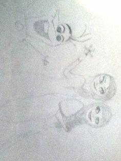 Anna, Elsa, and Olaf by Savannah Carter