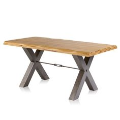 Natural Solid Oak Dining Sets - Dining Table with 2 Chairs and 2 Benches - Brooklyn Range - Oak Furnitureland Metal Leg Dining Table, 8 Seater Dining Table, Oak Dining Sets, Dining Room Table, Table And Chairs, Kitchen Tables, Kitchen Ideas, Industrial Dining Sets, Industrial Chic