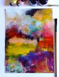 Art abstrait paysage peinture abstraite dessin abstrait art contemporain original décor art : Peintures par celine-artpassion