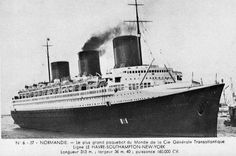 Normandie arrivant au Havre