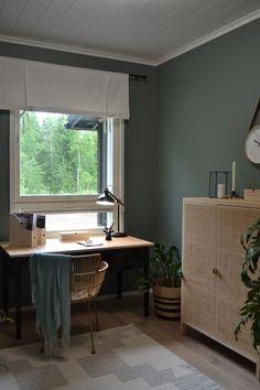Asuntomessut 2019 kooste - Rauharentola down to earth Guest Room, Home Office, Corner Desk, Earth, House Design, Design Ideas, Inspiration, Furniture, Color