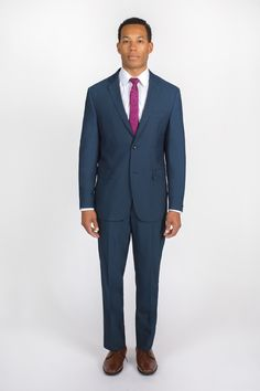 Dark Blue Modern Fit Suit for the groom, perfect for any style of wedding. Buy online or in-store for $169.95 (plus save 10% off your first order online).