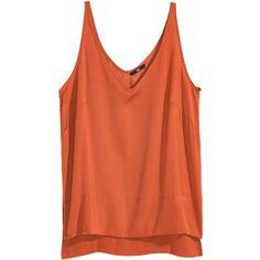 Sleeveless Satin Top $17.99 ($18) ❤ liked on Polyvore featuring tops, red tank, v neck top, sleeveless tank, v-neck tank top and sleeveless v neck tank tops