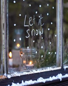 Christmas window decoration - great ideas again! - Christmas window decoration – great ideas again! Christmas Makes, Noel Christmas, Merry Little Christmas, Christmas Is Coming, All Things Christmas, Winter Christmas, Christmas Crafts, Simple Christmas, Christmas Windows