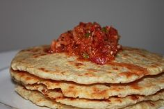 Coconut Roti With Onion & Chili Chutney - (Coconut Flat Bread):  Coconut Roti (Pol Roti) is the most famous breakfast recipe in Sri Lanka. It's easy to make and de...[read more at Food Frenzy]