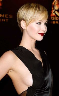 Jennifer Lawrence Straight Nice Long Pixie
