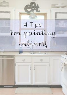 Here are my 4 tips for painting your cabinets so the paint will last and still look great years later! In April 2014, when had a 2 month old and a three year ol…