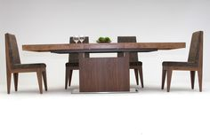 Dining table design is based on creators' passion and users' taste. This modern red oak dining table will fit gorgeously in your dining room. It has an extendable top to accommodate large dinner parties. It is crafted and finished with red oak making every dining experience a memorable one.