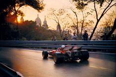 Spain, 1971. Clay Regazzoni in a Ferrari.
