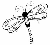I love all of the designs on this page! Wow.  Dragonfly Bubbles
