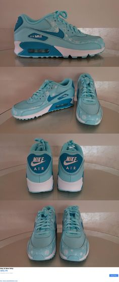 buy online 17cfe 79cc0 724875-400 Nike Youth Air Max 90 Prem Mesh Gs Blue  White Snowflake