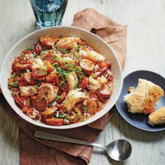 Traditionally, rice is cooked in the jambalaya liquid, but for this flavorful slow-cooker version, it's best to stir in the cooked rice at the end. Recipe: Andouille Sausage Jambalaya with Shrimp Shrimp Slow Cooker, Crock Pot Slow Cooker, Slow Cooker Recipes, Crockpot Recipes, Crock Pots, Casserole Recipes, Delicious Recipes, Yummy Food, Creole Recipes