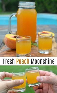 Easy to make. Perfect for BBQ's, camping and game day! Easy to make. Perfect for BBQ's, camping and game day! Peach Moonshine, Homemade Moonshine, Peach Cobbler Moonshine Recipe, Strawberry Moonshine Recipe, Flavored Moonshine Recipes, How To Make Moonshine, Apple Pie Moonshine, Homemade Alcohol, Homemade Liquor