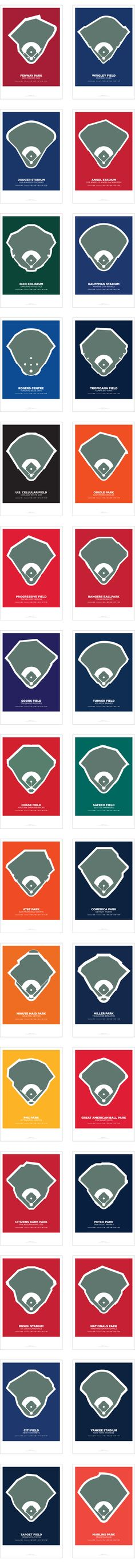 """A 31-print lithograph series featuring """"A Century of Ballparks""""."""