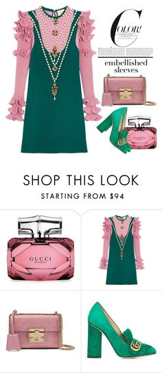 """Embellished Sleeves"" by conch-lady ❤ liked on Polyvore featuring Gucci, gucci and embellishedsleeves"