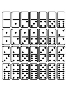 Dominoes - Math Manipulatives - Domino Tiles by PositiveTeaching
