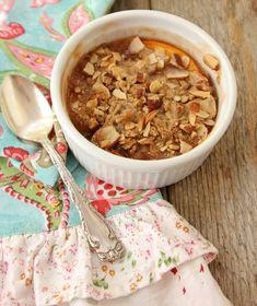 Peach Cobbler with Nut Crisp