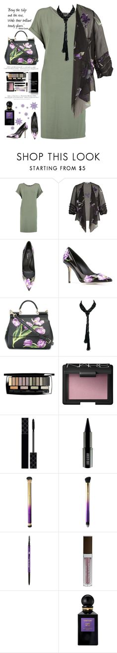 """Tulips in the Snow"" by saifai ❤ liked on Polyvore featuring H&M, Boohoo, Chesca, Dolce&Gabbana, Lancôme, NARS Cosmetics, Lumière, Gucci, Lord & Berry and tarte"