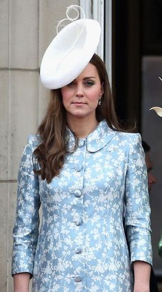 The Duchess of Cambridge on the balcony of Buckingham Palace just after the Trooping of the Colour, June 13, 2015