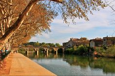 Roman Bridge crossing Vidourle River, Sommieres, Southern France