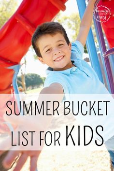 Do you do Summer Bucket List for your kids? Love these adorable ideas. . .
