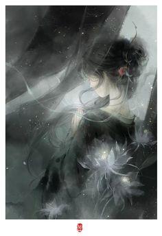 Flowing winds of our love Josephine Wall, Beautiful Fantasy Art, Beautiful Anime Girl, Anime Art Girl, Manga Art, L5r, Painting Of Girl, Girl Paintings, China Art