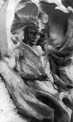 Lucifer, middle-left-side from the Sculpture of the Representative of Man by Rudolf Steiner Rudolf Steiner, Early Christian, Christian Art, Statues, Sculpture Art, Sculptures, Alberto Giacometti, Human Soul, Visionary Art