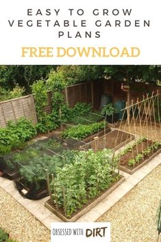 Free Vegetable Garden Layout, Plans and Planting Guides #GardeningIdeas