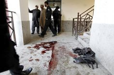 Photos of the week |Reuters / Wednesday, January 20, 2016 Blood stains and flak jackets used by attackers remain in the hallway of a dormitory where a militant attack took place, at Bacha Khan University in Charsadda, Pakistan January 20, 2016. REUTERS/Caren FirouzReuters.com