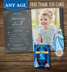 Cinderella Invitation Cinderella Birthday by PixelPerfectShoppe
