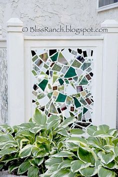 Mosaic Screen to hide Air Conditioner