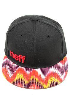 6dffc3b2e26 Neff Hat Printed brim Snapback in Black   Karmaloop.com - Global Concrete  Culture What s