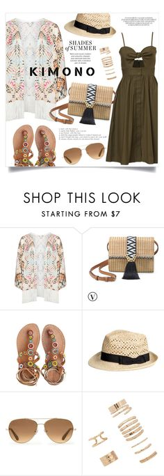 """""""Cool kimono"""" by gold-candle23 ❤ liked on Polyvore featuring Mat, Stella & Dot, Laidback London and Forever 21"""