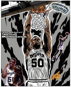 NBA Greats - David Robinson by Lannytorres