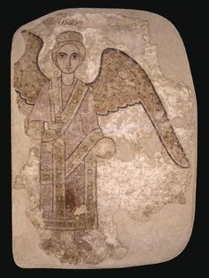 ARCHANGEL  Sudan, Faras, 9th c. – 1st quarter of the 10th c. AD  Mud plaster, tempera; From Polish excavations in Faras, in the National Museum in Warsaw since 1964