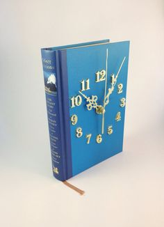 Book Clock French Blue by ilikeprettythingsqld on Etsy, $12.50