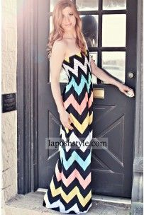 Style Me Pretty Maxi Chevron Dress. Popular Spring colors use on cards and scrapbooking pages