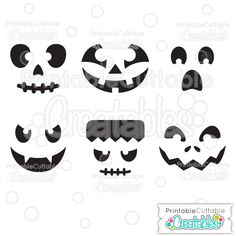 Halloween Faces Pumpkin Carving Stencil FREE SVG Cutting File for Silhouette, Cricut and other cutting machines - Includes Limited Commercial Use License! FREE SVG Files for Cricut Explore, Cricut Design Space, Silhouette, Silhouette Cameo, Silhouette Portrait, SVG cuts, Pazzles Inspiration, Eclips, Brother ScanNCut, Make the Cut, Sure Cuts a Lot, SCaL, and other electronic craft cutting machines. FREE SVG Cutting files for scrapbooking, card making, paper crafting, HTV, and adhesive vinyl…