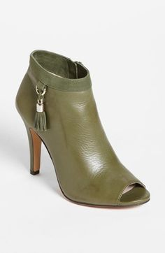Olive green tassel booties? Yes, please!