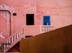 Blue door Fine Art Photography, Stairs, Doors, Lifestyle, Blue, Image, Home Decor, Ladders, Slab Doors