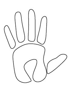 Handprint pattern. Use the printable outline for crafts, creating stencils, scrapbooking, and more. Free PDF template to download and print at http://patternuniverse.com/download/handprint-pattern/