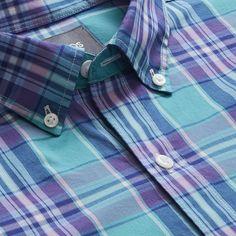 Bonobos Summer Weight Shirt (Blue Bay Port Plaid) - Standard Reg S Summer Shirts, Flannel Shirt, Casual Shirts, Button Down Shirt, Men Casual, Menswear, Plaid, Mens Tops, How To Wear