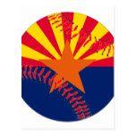Arizona Flag Baseball Postcard #weddinginspiration #wedding #weddinginvitions #weddingideas #bride
