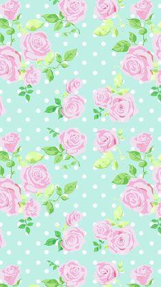 Mint vintage floral dots phone iphone wallpaper background b Et Wallpaper, Wallpaper For Your Phone, Cellphone Wallpaper, Flower Wallpaper, Pattern Wallpaper, Green Wallpaper, Cute Backgrounds, Cute Wallpapers, Wallpaper Backgrounds