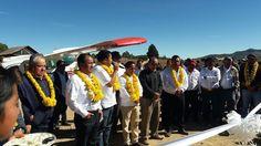 Sergio López Sánchez inaugura aeropista al servicio de la salud en la Mixteca